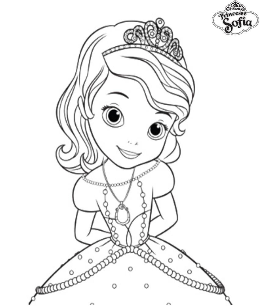 Coloriage Gratuit Princesse Sofia.Coloriage A Imprimer Princesse Sofia Sage Gratuit Et Colorier