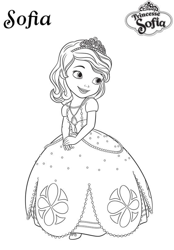 coloriage a imprimer Princesse Sofia