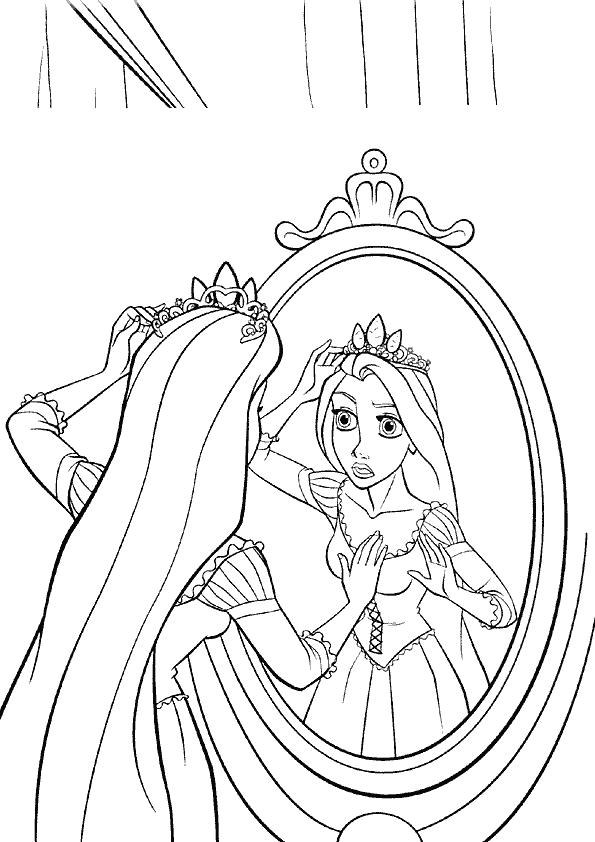 Coloriage disney princesse miroir for Miroir coloriage