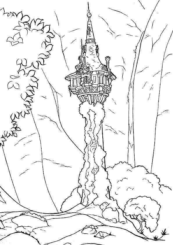 Coloriage a imprimer raiponce la tour gratuit et colorier - Coloriage raiponce gratuit ...