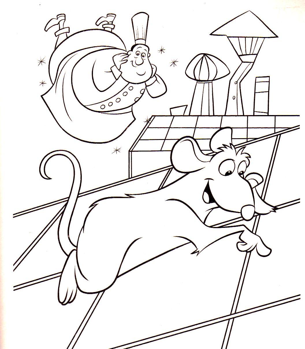 Coloriage a imprimer ratatouille espionne sur le toit gratuit et colorier - Dessin anime ratatouille gratuit ...