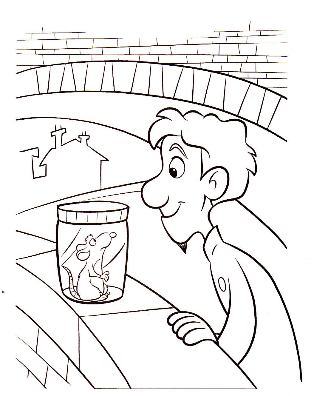 Coloriage a imprimer ratatouille linguini et remy dans le bocal gratuit et colorier - Dessin anime ratatouille gratuit ...
