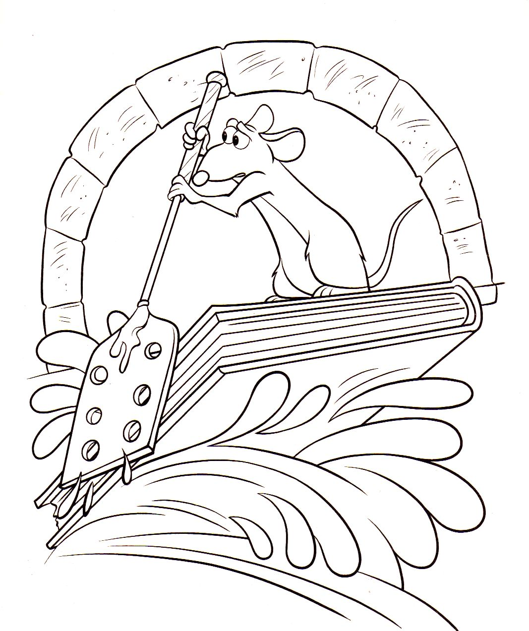 Coloriage a imprimer ratatouille remy rame gratuit et colorier - Dessin anime ratatouille gratuit ...