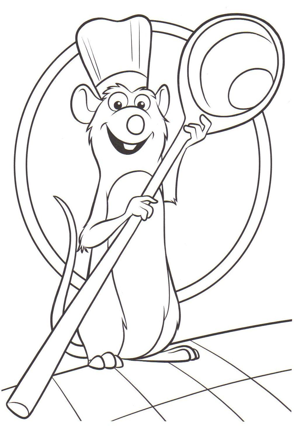 Coloriage a imprimer ratatouille gratuit et colorier - Dessin anime ratatouille gratuit ...