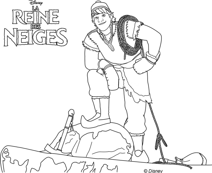 Coloriage a imprimer kristoff va aider anna a retrouver la - Jeu reine des neige gratuit ...