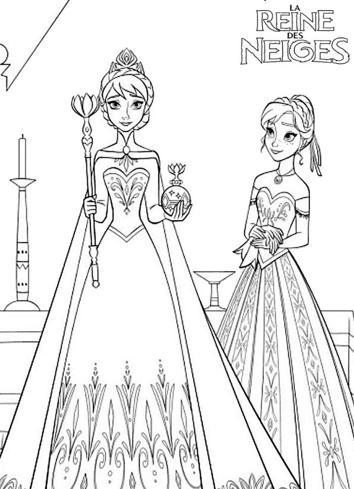 Coloriage Reine Des Neiges Elsa Imprimer Gratuit | New ...