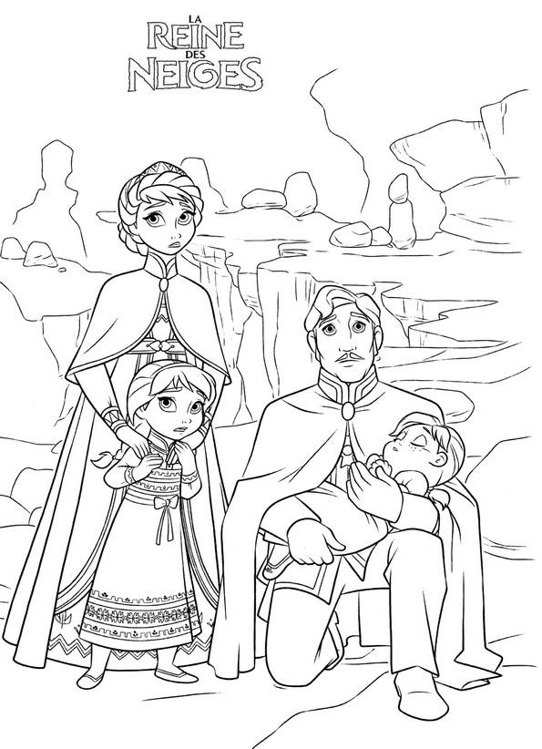 Coloriage a imprimer reine des neige le roi conduit anna - Coloriage frozen ...