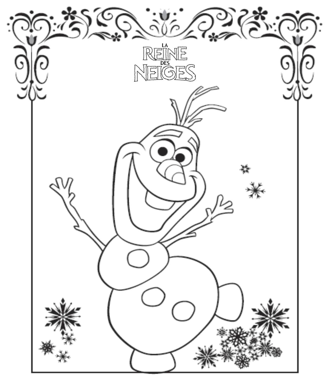 Coloriage a imprimer reine des neige olaf gratuit et colorier - Bonhomme de neige a imprimer gratuit ...
