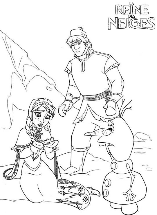 Coloriage a imprimer reine des neiges anna est touchee - Jeux de reine des neige gratuit ...