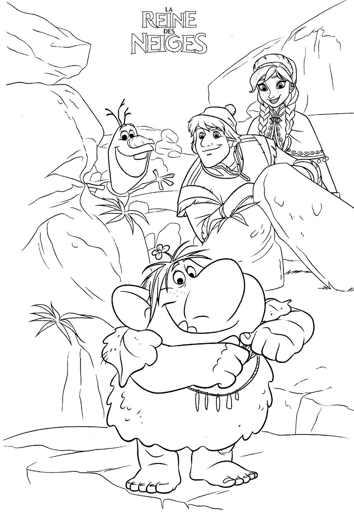 Coloriage a imprimer reine des neiges chez les trolls gratuit et colorier - Reine des neige a imprimer ...