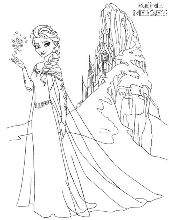 Coloriage a imprimer reine des neiges elsa heureuse dans - Dessin a imprimer reine des neiges ...