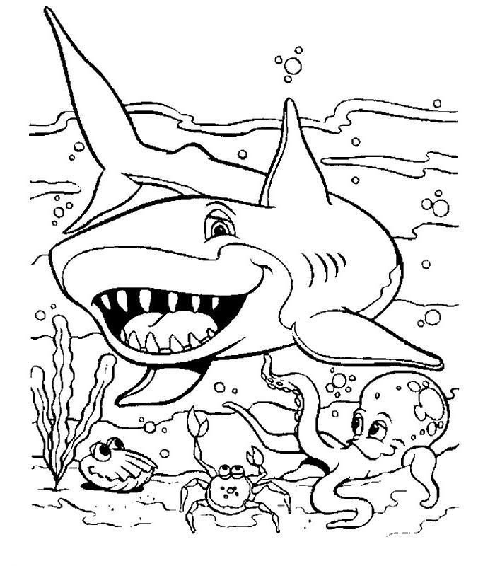 Coloriage a imprimer requin et les autres animaux - Animaux a imprimer gratuit ...