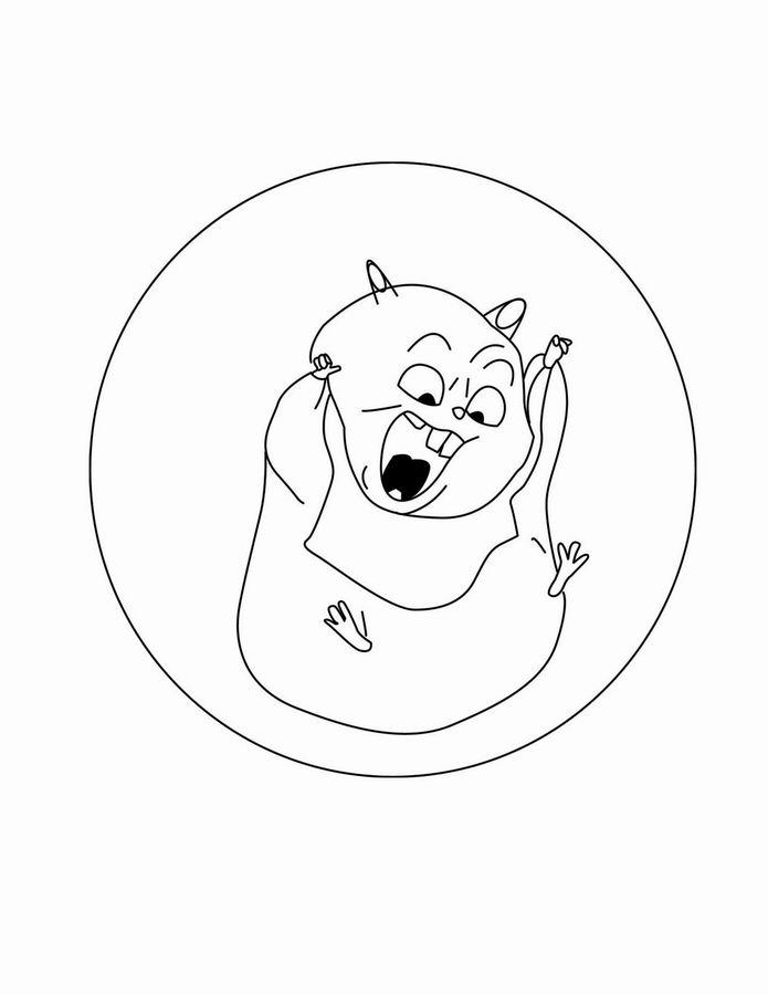 Coloriage A Imprimer Rhino Le Hamster Ami De Volt Gratuit Et Colorier