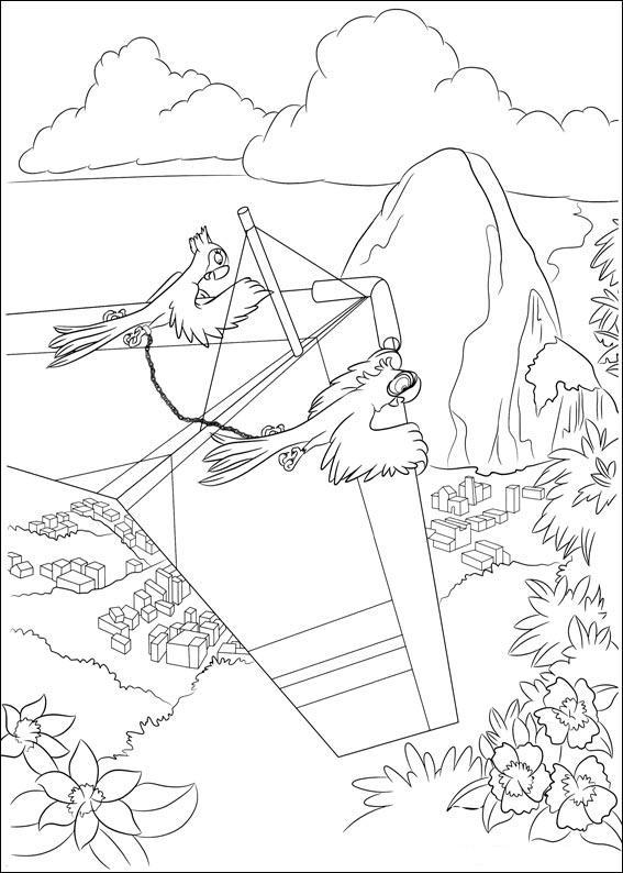 Coloriage a imprimer rio blu et perla sur le delta plane - Plane coloriage ...