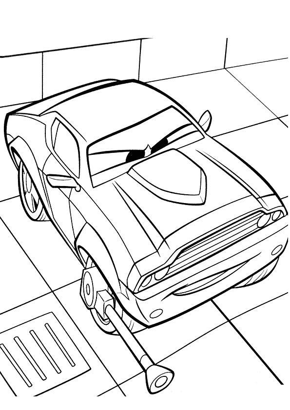 Coloriage a imprimer rod redline cars 2 gratuit et colorier - Cars 2 coloriage ...
