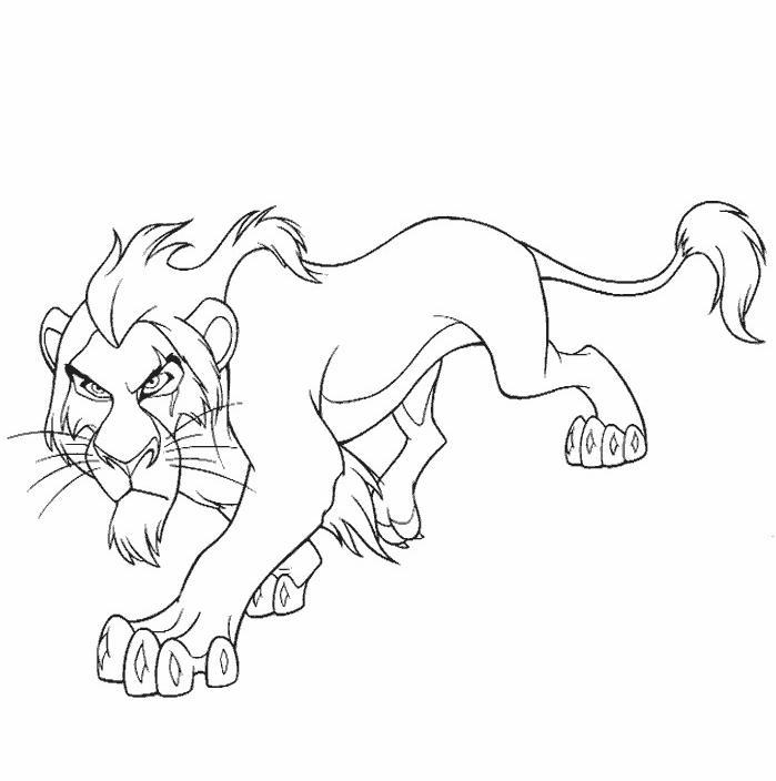 coloriage roi lion scar