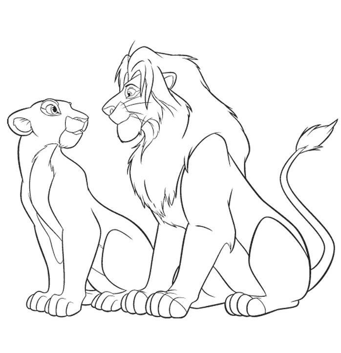coloriage roi lion 2