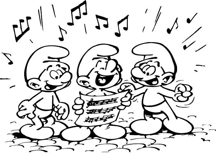 Coloriage a imprimer schtroumpf chorale gratuit et colorier - Chorale dessin ...