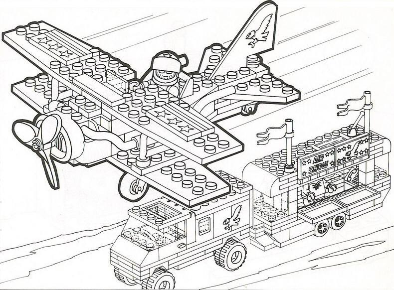 Coloriage A Imprimer Spectacle D Avion Lego Gratuit Et Colorier
