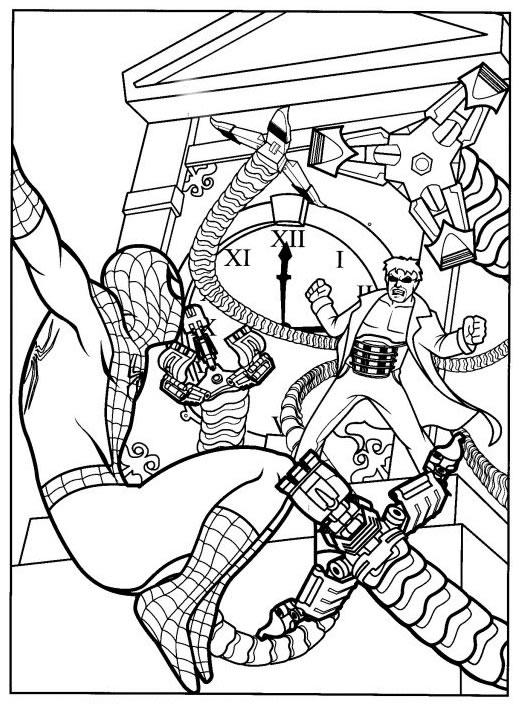 Coloriage a imprimer spiderman combat le mechant gratuit et colorier - Coloriage spiderman mechant ...