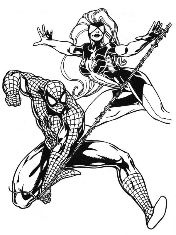 Coloriage a imprimer spiderman et spiderwoman gratuit et - Dessin de spiderman a imprimer et a colorier ...