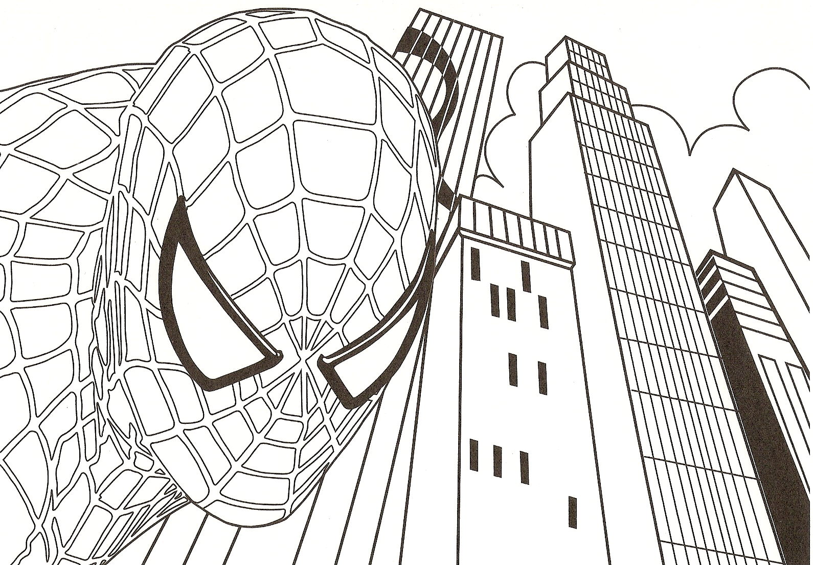 Spiderman coloriage facile - Dessin spiderman facile ...