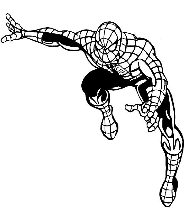Coloriage a imprimer spiderman prend son elan gratuit et - Coloriage spiderman a imprimer ...