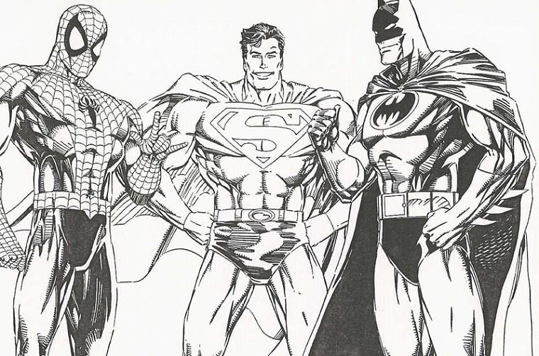 Coloriage a imprimer spiderman superman et batman gratuit et colorier - Coloriage spiderman noel imprimer ...