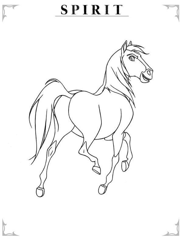 Paarden Kleurplaat Spirit Coloriage A Imprimer Spirit Fier Gratuit Et Colorier