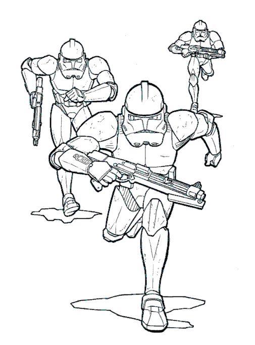 Coloriage a imprimer star wars attaques des clones gratuit et colorier - Dessin de star wars a imprimer ...