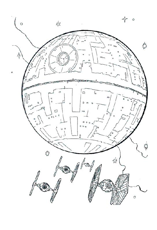 Coloriage a imprimer star wars la lune noire gratuit et colorier - Star wars a imprimer gratuit ...