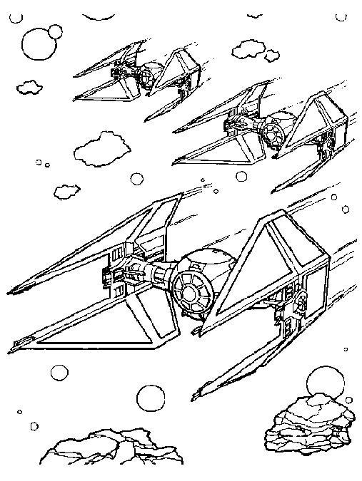Coloriage a imprimer star wars les vaisseaux gratuit et - Dessin facile star wars ...