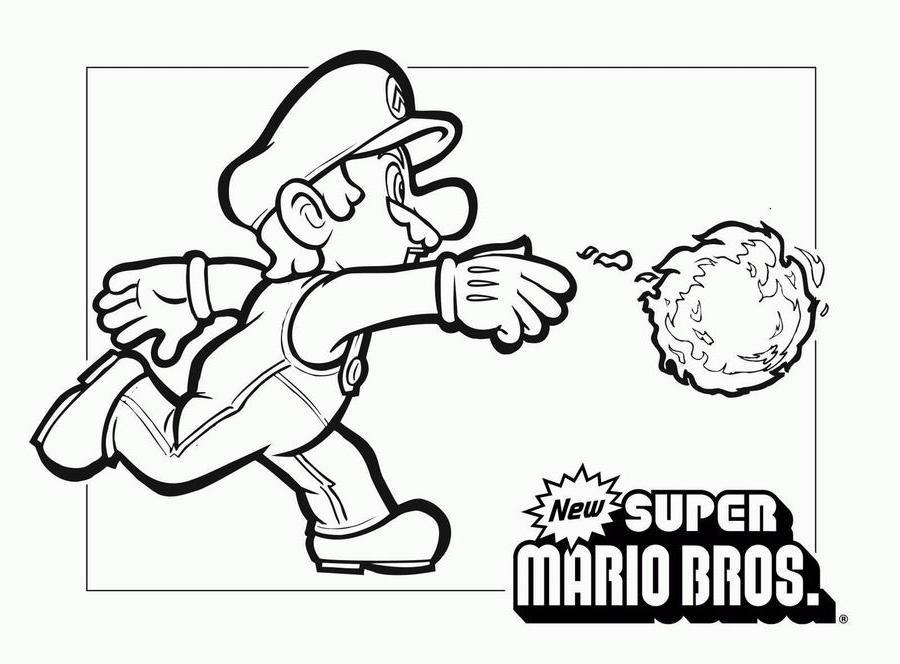 coloriage super mario bros - Coloriage Mario Imprimer