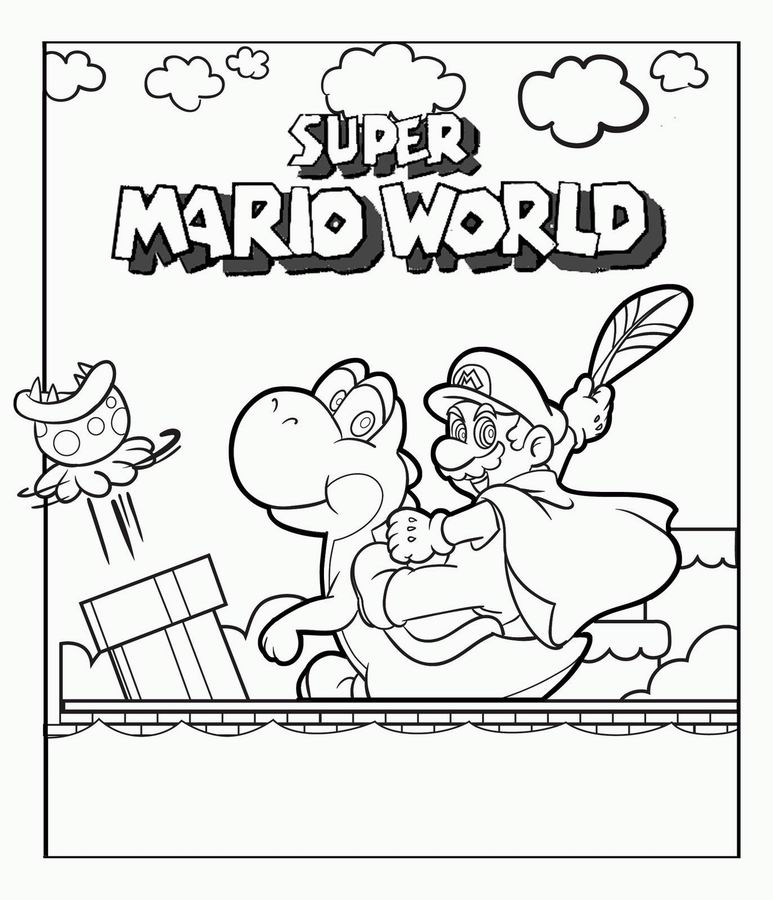 Coloriage a imprimer super mario world gratuit et colorier for Printable mario coloring pages