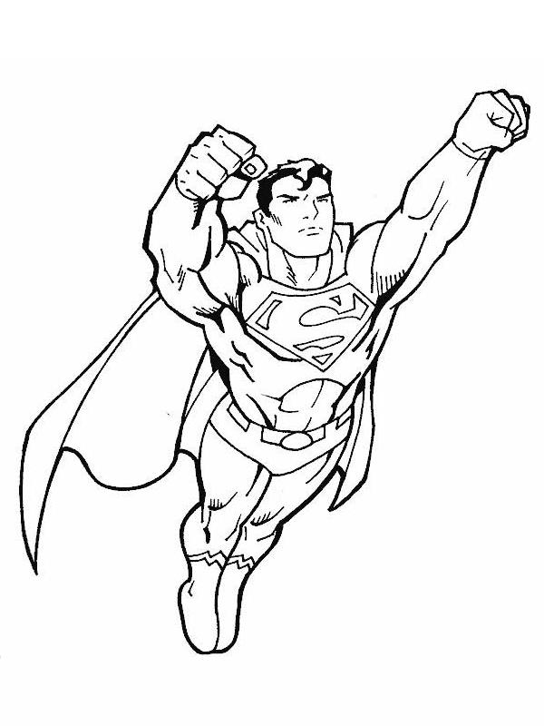Coloriage a imprimer superman en plein vol gratuit et colorier