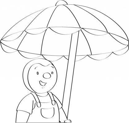 Coloriage a imprimer t choupi sous le parasol gratuit et - Dessin parasol ...