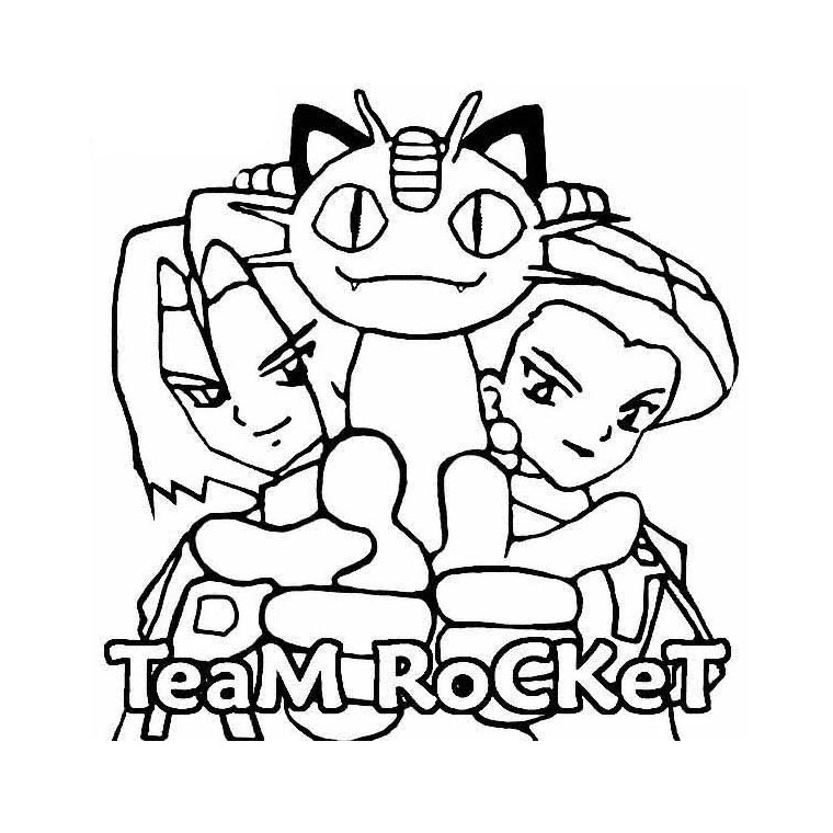Coloriage A Imprimer Team Rocket Pokemon Gratuit Et Colorier
