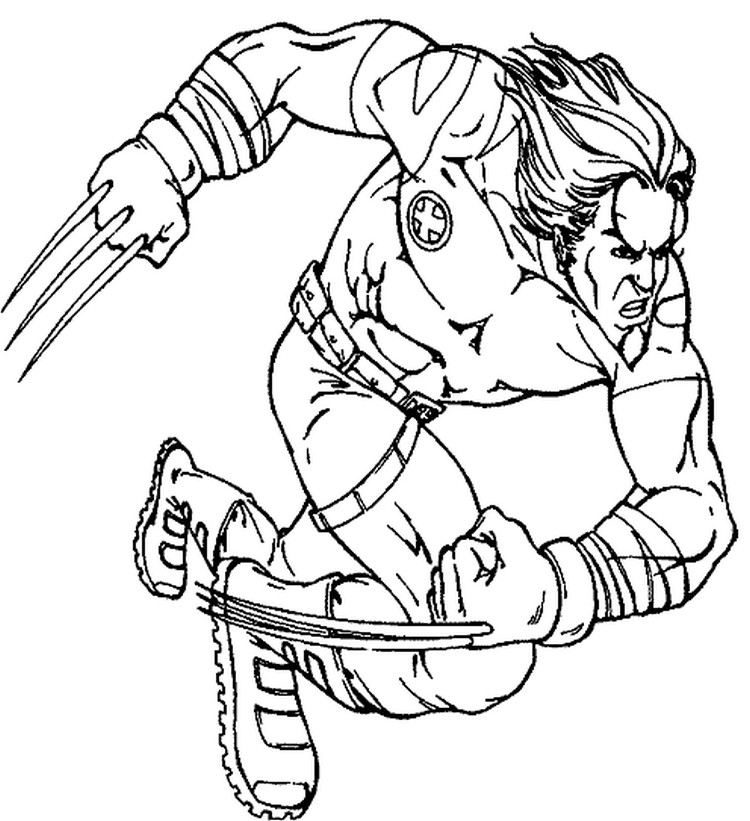 coloriage the avengers wolverine