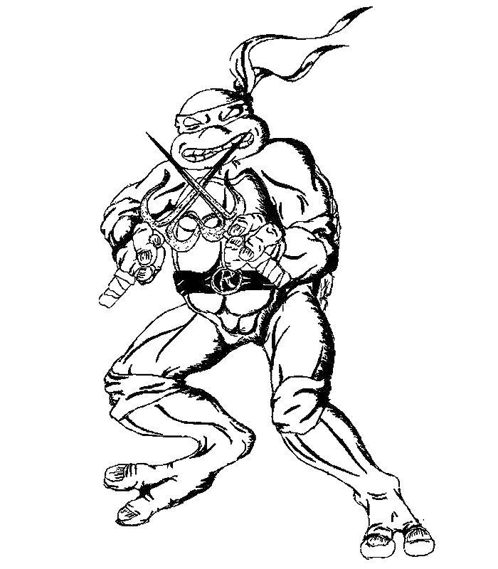 Coloriage a imprimer tortue ninja gratuit et colorier - Coloriage tortue ninja leonardo ...