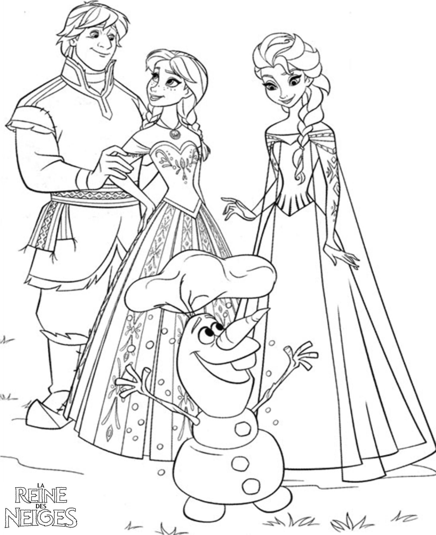 Coloriage a imprimer reine des neiges tout est bien qui - Jeu reine des neige gratuit ...