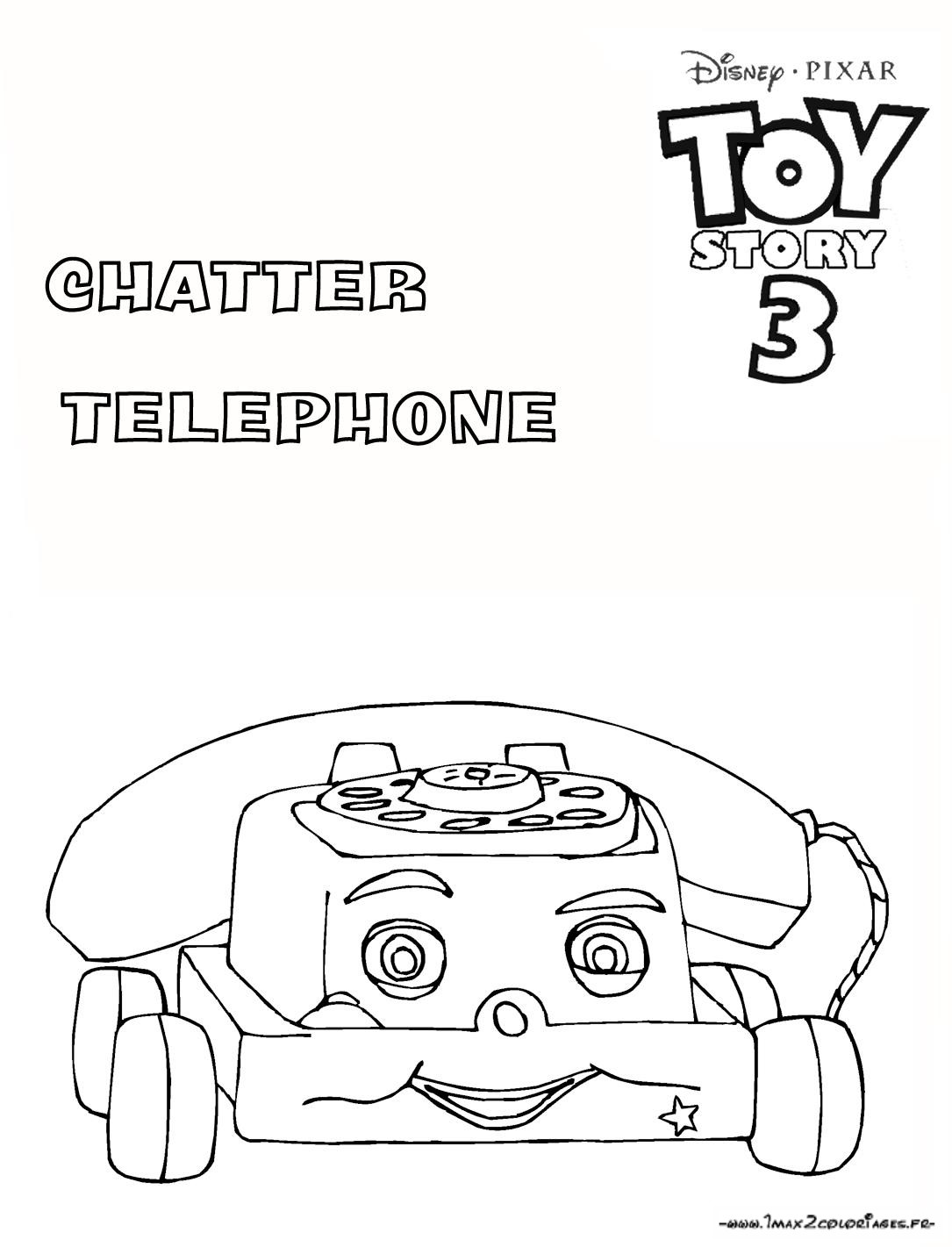 Coloriage a imprimer toy story 3 chatter le telephone gratuit et colorier - Coloriage toy story 3 ...