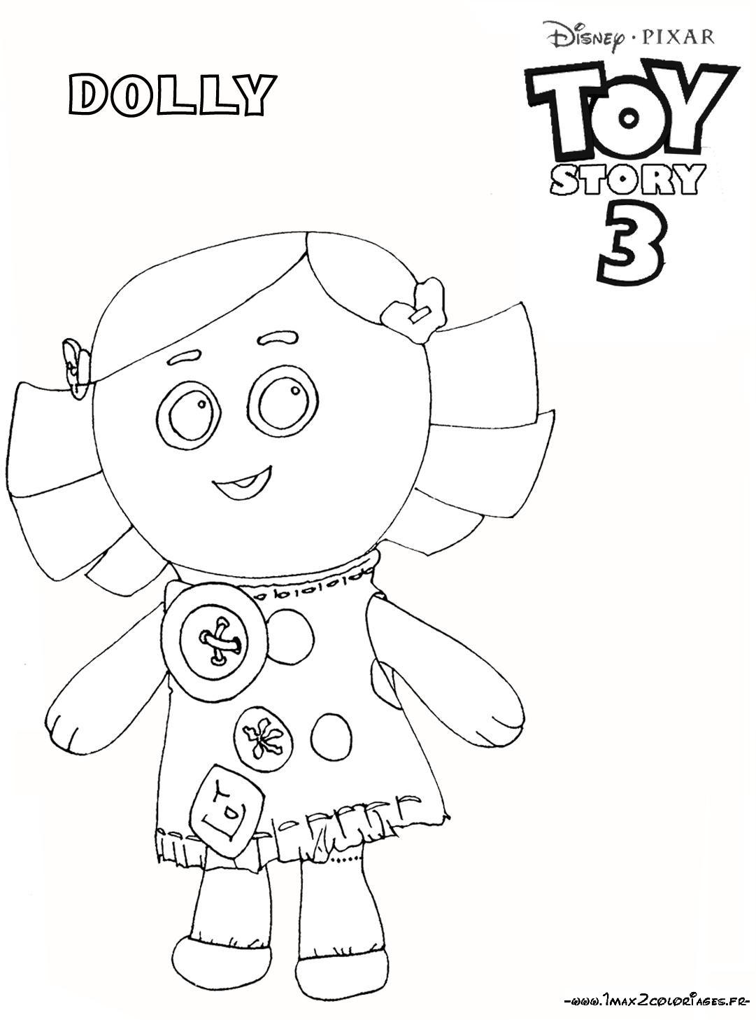 Coloriage a imprimer toy story 3 dolly la poupee gratuit - Coloriage toy story 3 ...