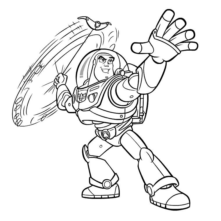 Coloriage a imprimer toy story buzz et son lasso gratuit - Buzz a colorier ...