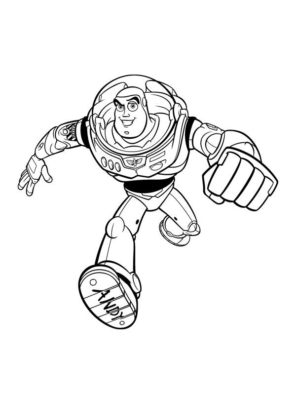 Coloriage a imprimer toy story buzz l eclair court gratuit - Buzz a colorier ...