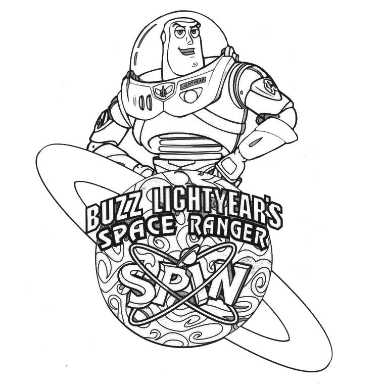 Coloriage a imprimer toy story buzz ranger de l espace - Buzz a colorier ...