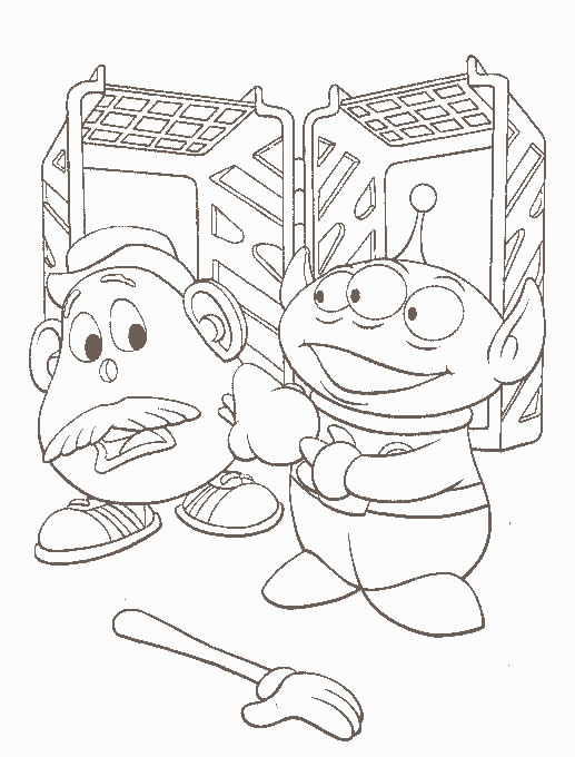 Coloriage a imprimer toy story monsieur patate gratuit et colorier - Monsieur patate toy story ...