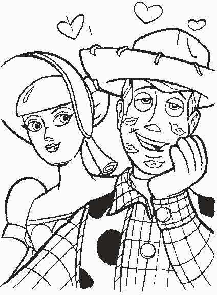 Coloriage A Imprimer Toy Story Woody Et La Bergere Gratuit Et Colorier