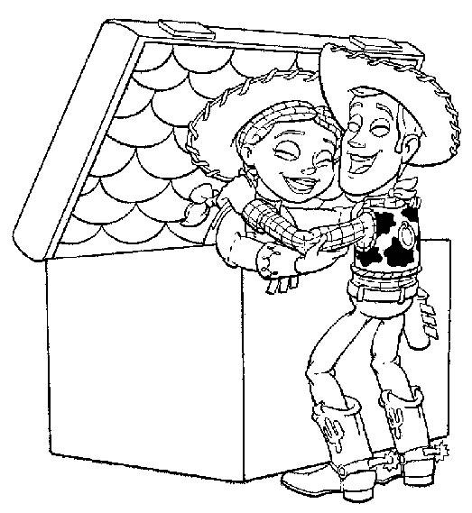 Coloriage A Imprimer Toy Story Woody Sort Jessie Du Coffre