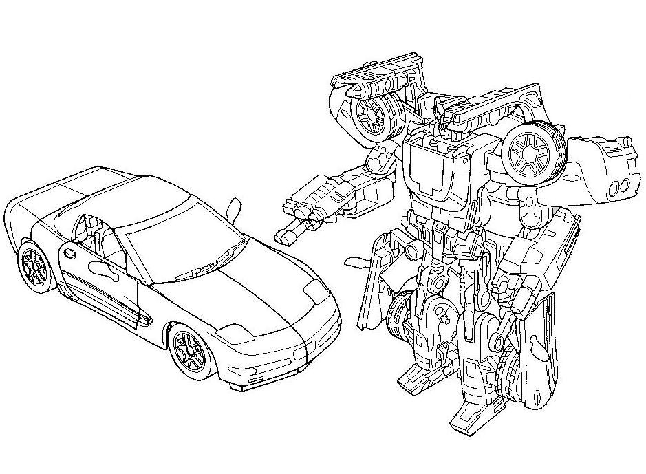 Coloriage a imprimer transformers apres et avant - Dessin a colorier transformers ...