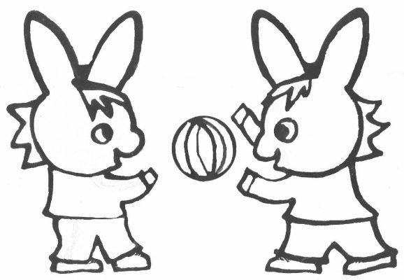 Coloriage a imprimer trotro joue au ballon avec son ami - L ane trotro gratuit ...